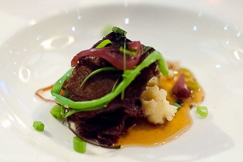 Beef cheek, variations of onion