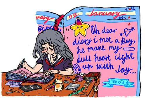 oh dear diary [bubblegum bitch]