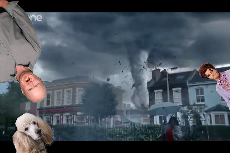Hurricane strike on Eastenders
