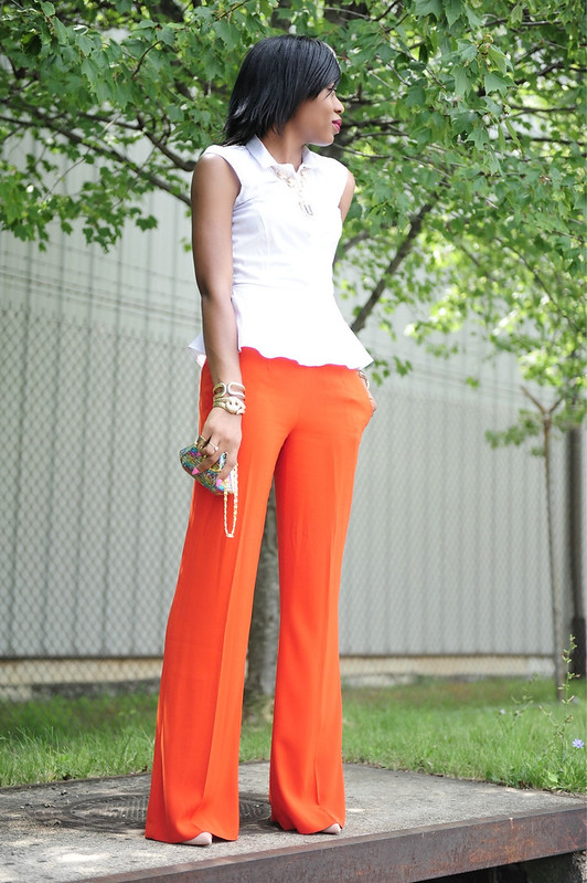 Peplum & Orange by www.jadore-fashion.com