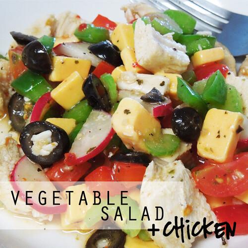 Veg Salad plus Chicken