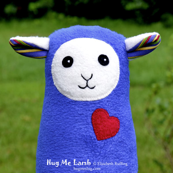 HPlush Stuffed Animal Art Toys, Hug Me Lambs by Elizabeth Ruffing