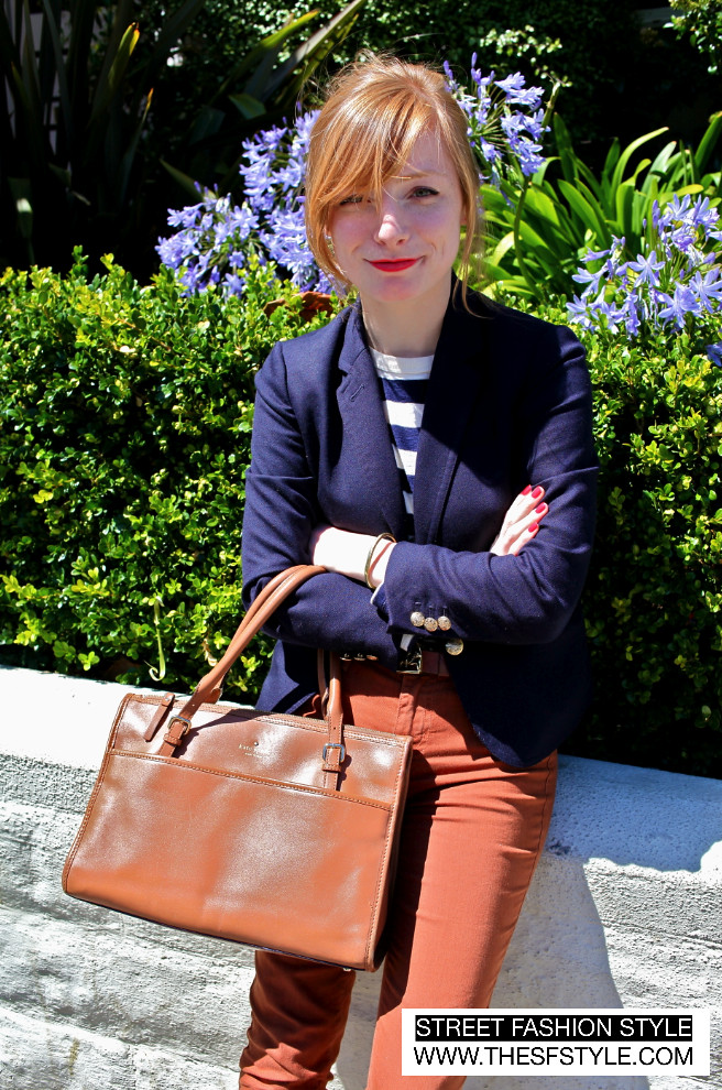 navy blazer, kate spade, nautical, preppy, street fashion style, sfs, thesfstyle, san francisco blog,