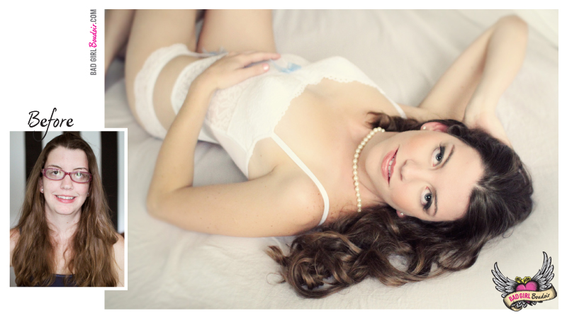 Boudoir Photoshoot Before and After Photo
