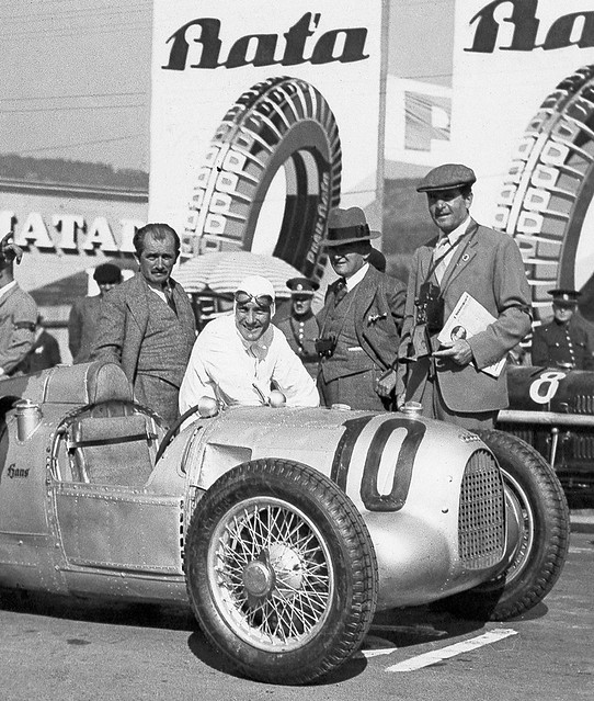 1934 Auto Union Typ A - Porsche & Stuck at Masaryk GP Brno