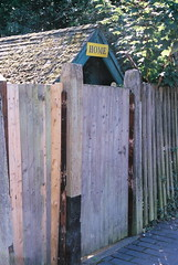 home fencing, wall, picket fence, wood, gate, outhouse,