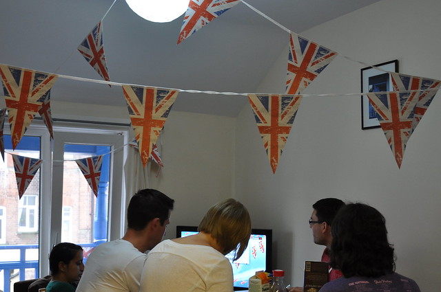 Jubilee decorations at our apartment