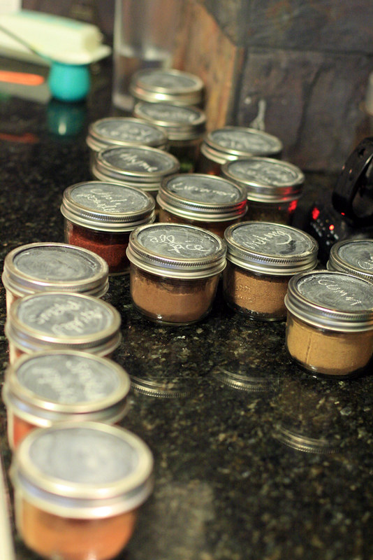 Chalkboard Spice Containers
