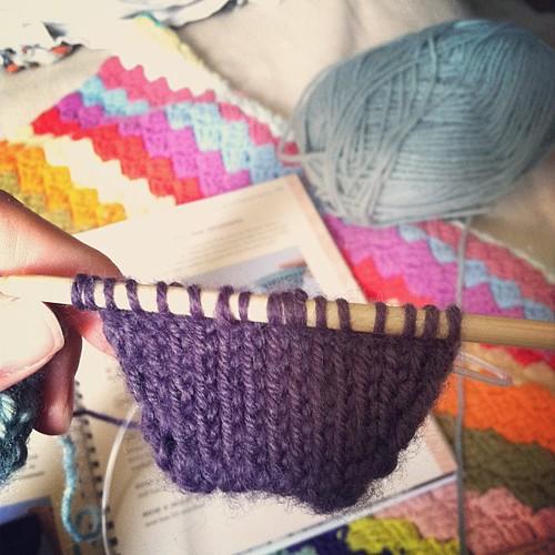 This would be sock A. #twosockstoeup #sockknitting #knitting #ijustwannabeaknitter #indielovely #mycraftaddiction #makeapretty #makeit #lovelyproject