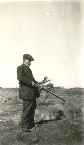 Arthur James Pearce shooting rabbits