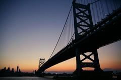 Dusk At The Ben Franklin Bridge