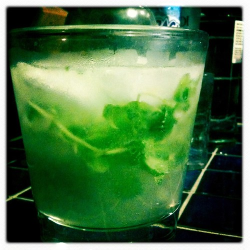 Makin mojitos!