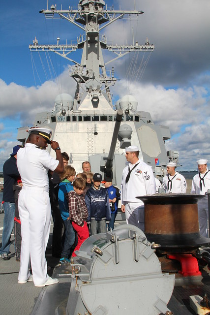 Kiili Pantrid Baseball Team Touring USS Faragut, August 10, 2012