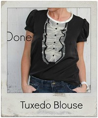 how to make a tuxedo blouse