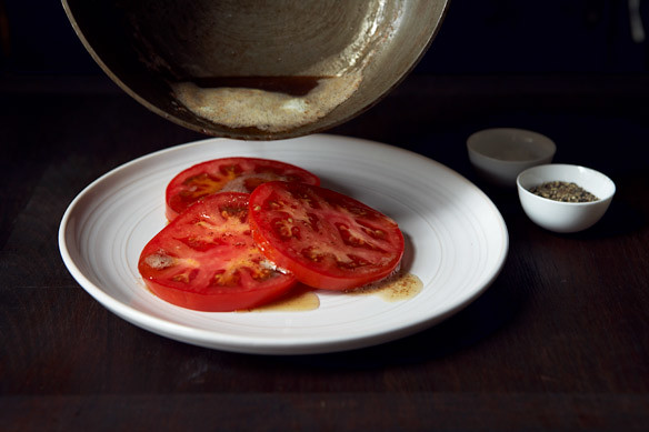 Brown Butter over Tomatoes