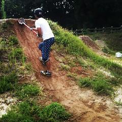 久しぶりのタケちゃんと久しぶりの白レーン。#trails #bmx