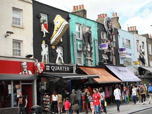 Some of the shops located in Camden Market.
