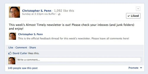 Almost Timely Newsletter on Social