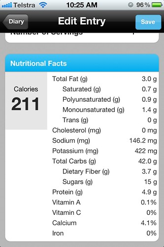 Banana Wrap Nutritional Information