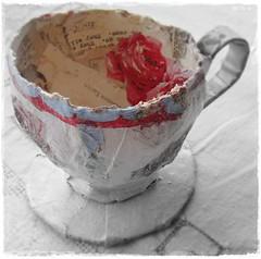 paper mache tea cup
