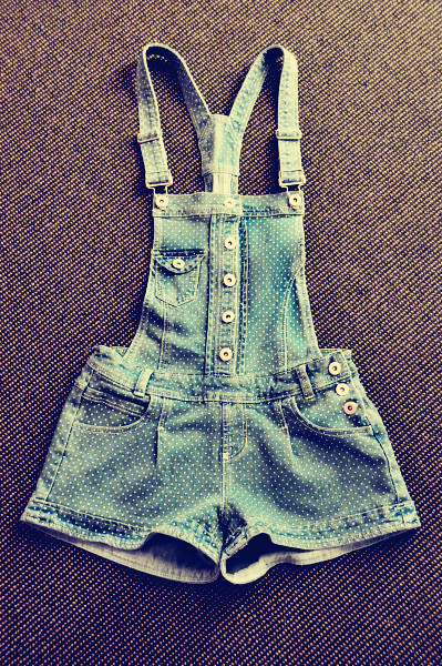 Straps Denim Shorts