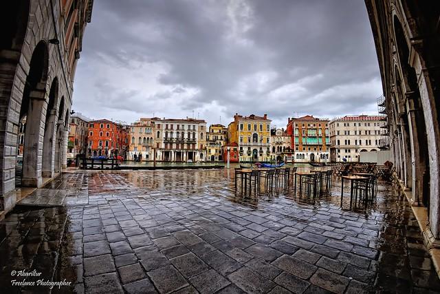 Canal Grande da Fondamenta Riva Olio. Venezia (Fisheye Vision)