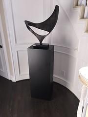 Black Sculpture Pedestal