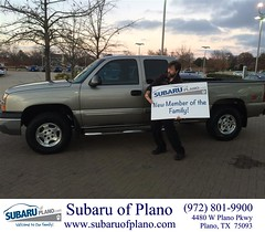 #HappyBirthday to James from Aaron Dunson at Subaru of Plano!