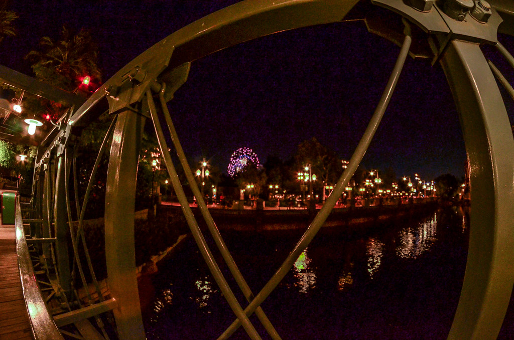 Pacific Wharf bridge fireworks