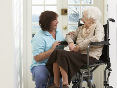 Carer and older woman