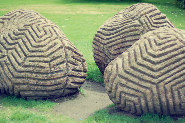 Wardrobeblock : Dulwich Picture Gallery South London stones installation art sculpture