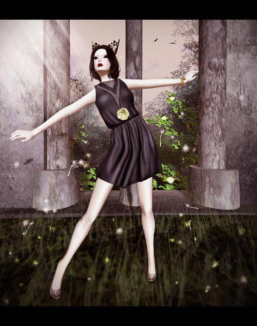 Fairy Tales 2012 - Tee*fy Adelaide  V-neck Romper Black Dress by Azure Electricteeth
