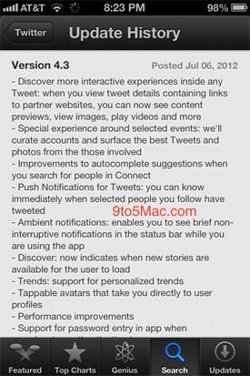 Twitter para iPhone recibirá mejoras importantes
