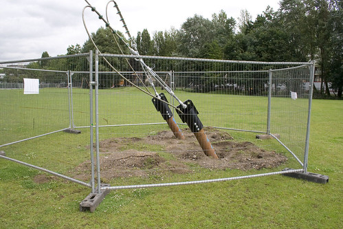 Millwall Park camera cable pylon