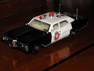 Dinky Pontiac RCMP Convertion to US Sheriff Car