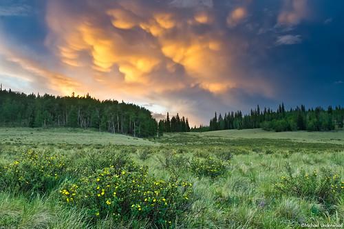 sunset storm rain clouds landscape photography colorado thunderstorm deerlakes mammatusclouds gunnisonnationalforest slumgullionpass hinsdalecounty