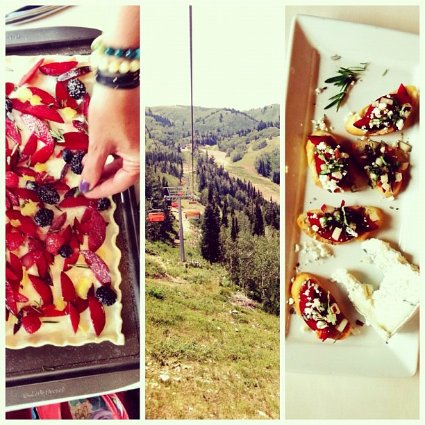 Fun food workshop up on the mountain with @sandycoughlinre @nakanosplash & @chefjyh. #evoconf