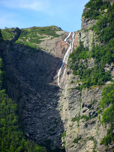 Waterfall on Western Brook Pond