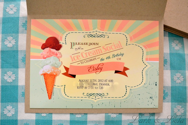 Eisley's Eis Scream Social Invite