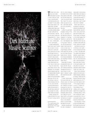 Dark Matter and Massive Neutrinos