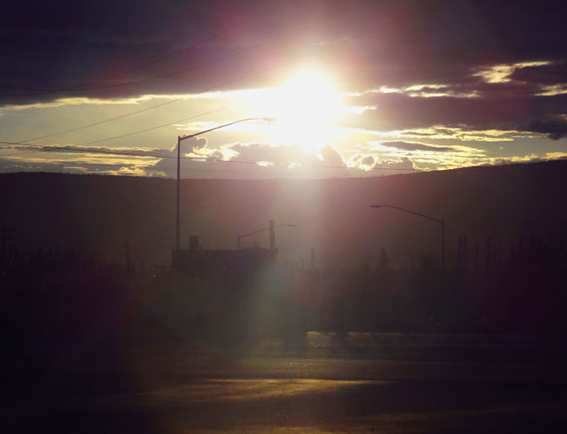 Midnight sun in Fairbanks