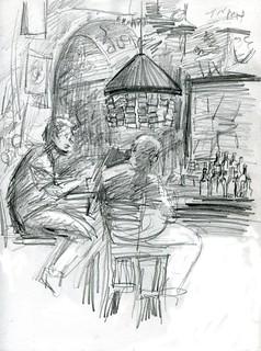 Sketching inside El Batey