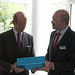 Brian Bowsher with HRH The Duke of Kent