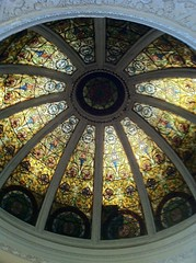 daylighting, symmetry, circle, dome, stained glass,