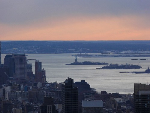 Statue of Liberty seen from the Top of the Rock