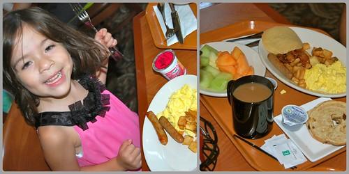 Embassy Suites breakfast collage