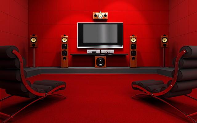 колонки, телевизор, кресла