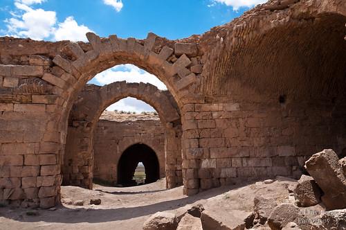 Interior del castillo fatimí en Harran
