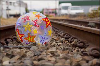 Random beachball on the tracks...