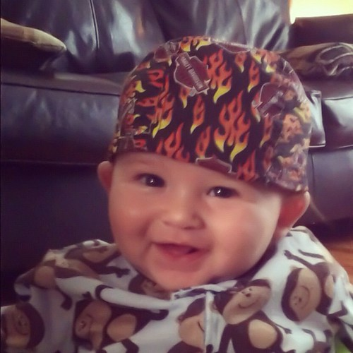 Tuff. #cord #baby #boy #harleydavidson #monkey #monkeybusiness #mimigetthisdamndewragoffmyheadNOW